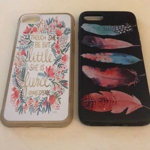 Accessories - 2 cute iPhone 7/8 phone cases